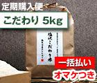 【定期購入・一括払い】 塩沢こだわり米:白米 5kg
