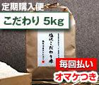【定期購入・毎回払い】 塩沢こだわり米:白米 5kg